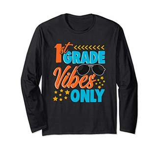 Long Sleeve First Grade Vibes Only Tshirt
