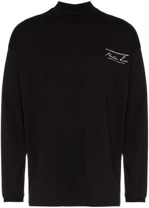 Martine Rose long sleeve high neck logo print-shirt