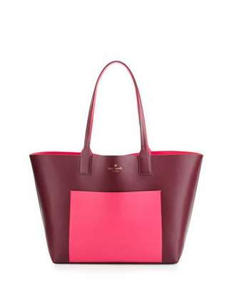 Kate Spade New York Jones Street Posey Colorblock Tote Bag, Mulled Berry/Pink Confetti $298 thestylecure.com