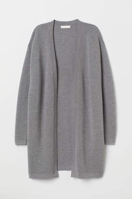 H&M Textured-knit Cardigan - Gray