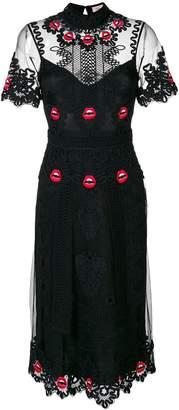 Temperley London Leaf Midi dress