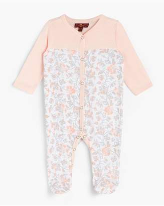 7 For All Mankind Kids Girls 0-9 Footie In Seashell Pink