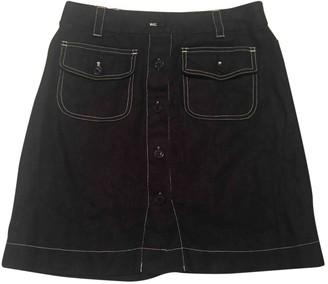 Hobbs Black Linen Skirt for Women