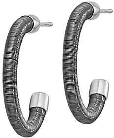 Italian Silver & Wire-Wrapped Demi Hoop Earring