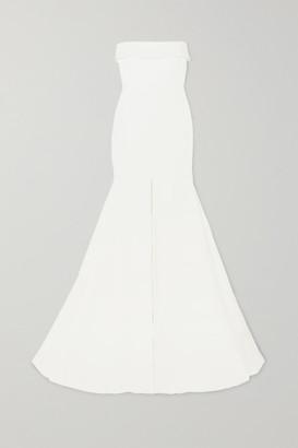 Alex Perry Jamie Strapless Satin-crepe Gown - White