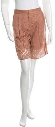 Tibi Floral Embroidered Bermuda Shorts