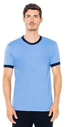 American Apparel Men's Poly-Cotton Short Sleeve Ringer T-Shirt