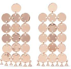 Luv Aj The Disco Fever Rose Gold-Plated Swarovski Crystal Earrings