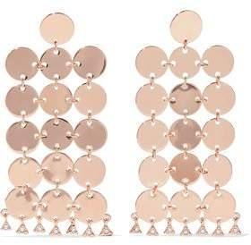 Luv AJ Luv Aj Woman Rose Gold-plated Crystal Earrings Rose Gold Size nPQL7yRkM