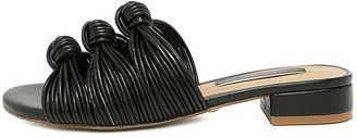 Kensie Kylee Black Knotted Slide Sandals $59 thestylecure.com