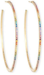 Tai Large Hoop Earrings w/ Pave