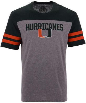 '47 Men's Miami Hurricanes Tri-Colored T-Shirt