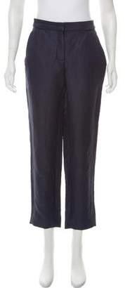 Araks Linen-Blend Mid-Rise Pants