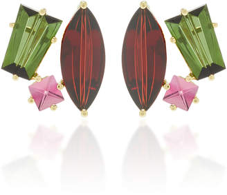 MISUI One-Of-A-Kind 18K Gold and Multi-Stone Earrings