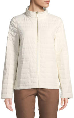 Lafayette 148 New York Garcia Long-Sleeve Puffer Jacket