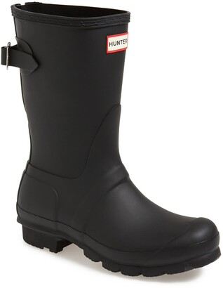 Hunter Short Back Adjustable Waterproof Rain Boot