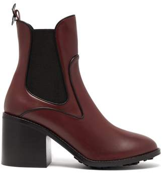 Fabrizio Viti - Madison Leather Ankle Boots - Womens - Burgundy