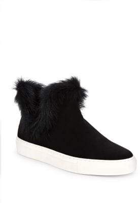 Rachel Zoe Brooklyn Suede and Shearling Sneaker Booties