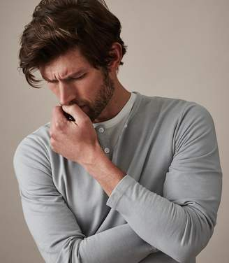Reiss ORDER BY MIDNIGHT DEC 15TH FOR CHRISTMAS DELIVERY JIMMY LONG SLEEVED HENLEY GREY