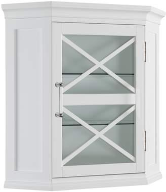 Elegant Home Fashions 1-Door Ridge Corner Wall Cabinet