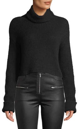 Sablyn Shay Cropped Cashmere Turtleneck Sweater
