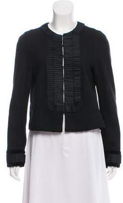 Saint Laurent Pleat-Accented Wool Jacket