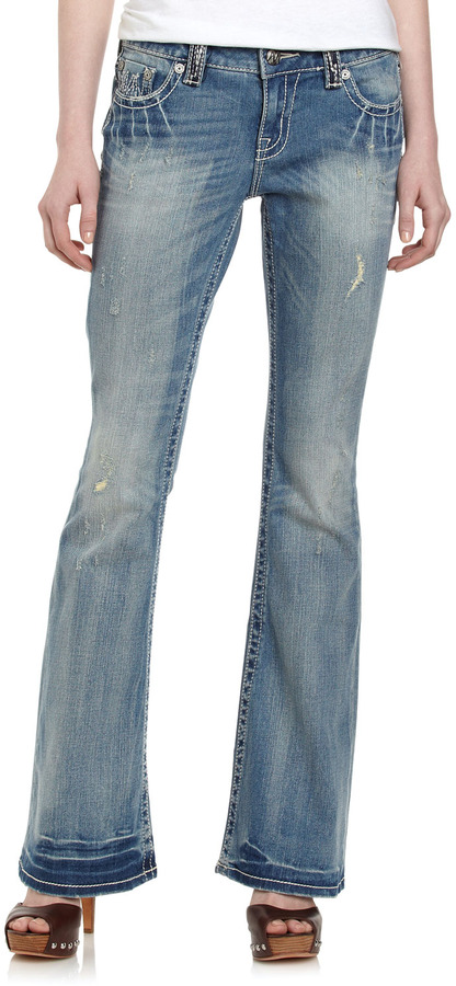 Miss Me Heavy-Stitch Boot-Cut Jeans, Laelia