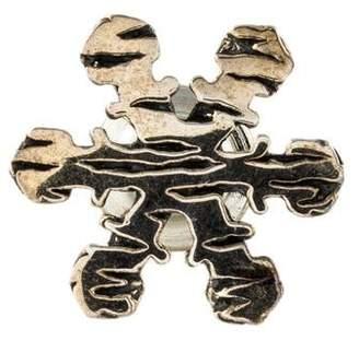 John Hardy Macan Snowflake Lapel Pin