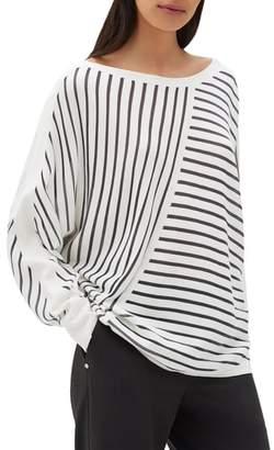 Lafayette 148 New York Multidirection Stripe Sweater