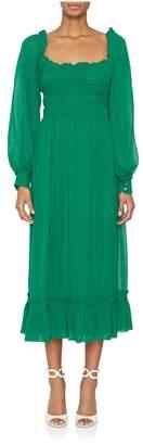 Proenza Schouler Longsleeve Square Neck Dress