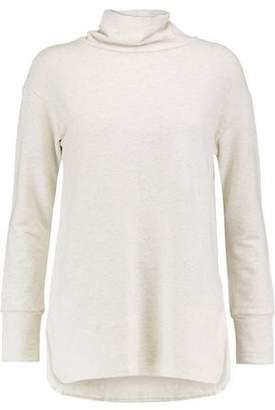 Monrow Slub Cotton-Blend Turtleneck Top