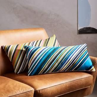 west elm Crewel Diagonal Stripe Pillow Cover