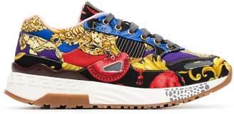 Versace baroque-print Achilles sneakers