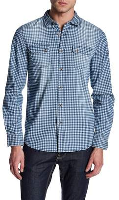 Indigo Star Abe Long Sleeve Check Print Tailored Fit Shirt