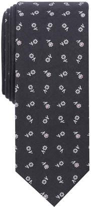 Bar III Men's Tossed Daisy Print Skinny Tie