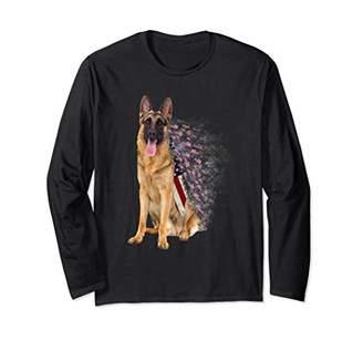 4TH OF JULY AMERICAN DAY TURTLE FLAG SHEPHERDS DOG SHIRT Long Sleeve T-Shirt