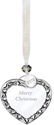 Waterford Crystal 2018 Merry Christmas Heart Christmas Ornament