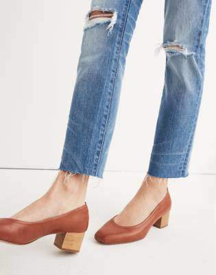 Madewell The High-Rise Slim Crop Boyjean: Knee-Rip Edition