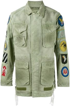 Off-White patch embellished field jacket $1,890 thestylecure.com