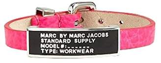 Marc by Marc Jacobs Standard Supply ID Leather Bracelet Pop Pink/Black