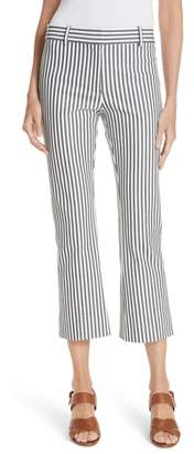 Derek Lam 10 Crosby Stripe Crop Flare Trousers