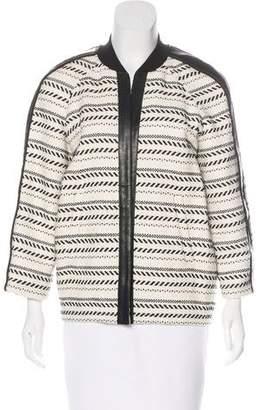 Rebecca Minkoff Patterned Open Front Jacket