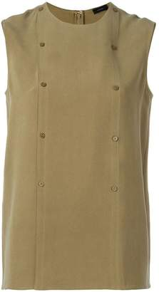 Joseph double-breasted buttoned tank