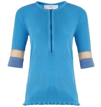 Toga Teleco mesh-insert ribbed-knit sweater