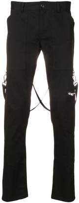 Stampd low rise biker trousers