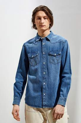 Wrangler Icons Washed Denim Western Button-Down Shirt