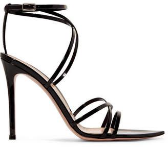 Gianvito Rossi 105 Patent-leather Sandals - Black