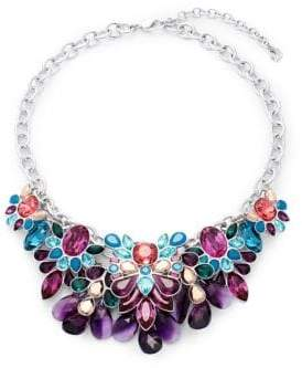 Swarovski Multi-Color Crystal Bib Necklace