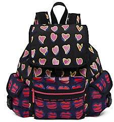 Le Sport Sac Women's Alber Elbaz x Medium Heart & Lip Print Backpack