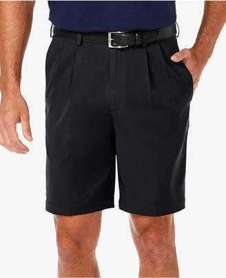 "Haggar Men's Cool 18 Pro Classic-Fit Stretch Pleated 9.5"" Shorts"